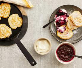 Hefe-Pfannkuchen (Plinsen)