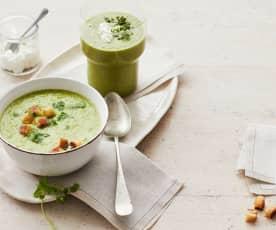 Grüne Salatsuppe
