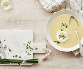 Kartoffel-Senf-Cremesuppe mit Setzei