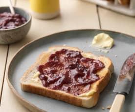 Galaretka brzoskwiniowo-borówkowa (bez cukru)
