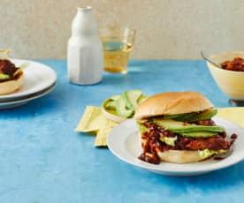 Pulled-Chicken-Burger