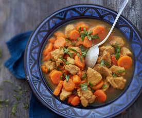 Sauté de veau aux carottes et aux épices