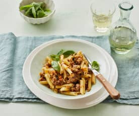 Zucchini-Salsiccia-Pasta