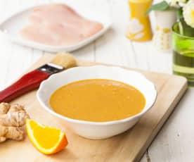 Marinatura al burro di arachidi, zenzero e arancia