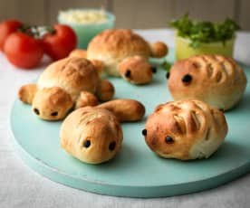 Cheesy Animal Rolls