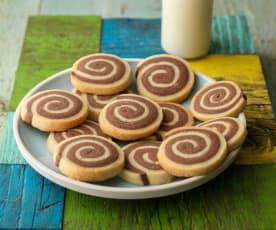 Chocolate Orange Pinwheel Biscuits