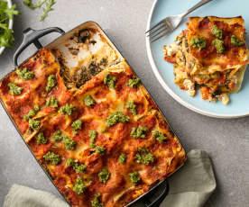 Vegan Mushroom and Spinach Lasagne
