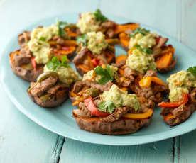 Steak Fajita Sweet Potatoes