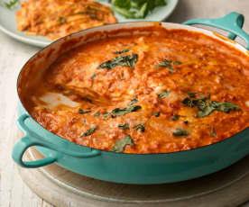 Mozzarella and Tomato Pancake Stack