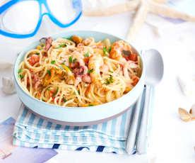 Les spaghetti aux fruits de mer... un poème !