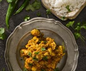 Indické kuřecí kari s chilli papričkou
