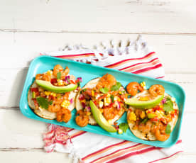 Shrimp Tacos with Denver Salsa