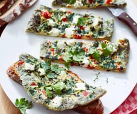 Oliven-Schafskäse-Omelette