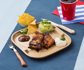 Braised short ribs with nachos (Costillas de ternera braseadas con nachos)