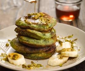 Zelené smoothie lívanečky