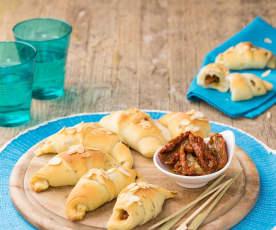 Mini brioche alle olive e pomodori secchi (vegan)