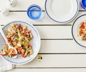 Sizilianischer Reissalat mit Thunfisch