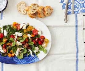 Spinat-Tomaten-Salat