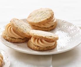 Mohn-Hagebutten-Cookies