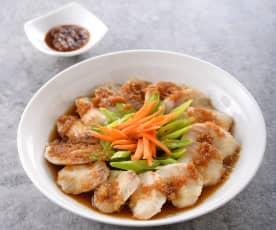 薑汁時蔬蒸魚
