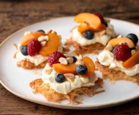 Feta and Honey Cheesecakes
