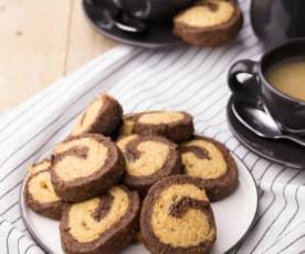 Biscotti integrali al cioccolato fondente