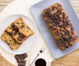 Plumcake ricotta, caffè e cioccolato