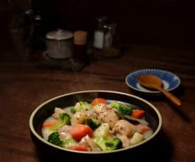 奶油白醬雞肉燉菜