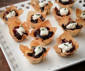 Caramelised Onion and Goat's Cheese Tartlets