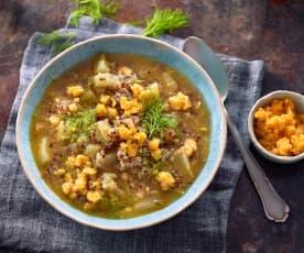 Fenchel-Quinoa-Suppe