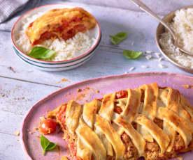 Tomatenstrudel mit Reis