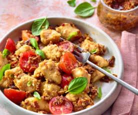 Tomatengnocchi mit Pesto
