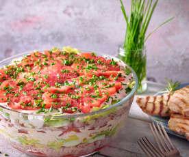 Tomaten-Schinken-Schichtsalat