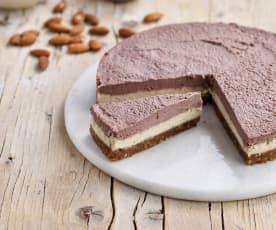 Cheesecake de açaí e frutos secos