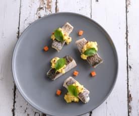 鱸魚野蔬溫沙拉