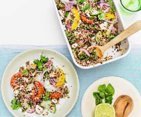 Salade de quinoa aux herbes et à la feta