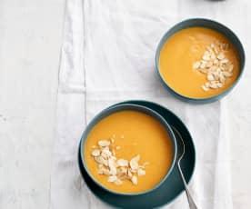 Sopa fria de pêssego e cenoura