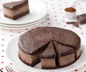 Torta gelato ricotta, pere e cioccolato