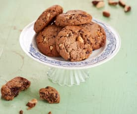 Cookies coco, chocolat et noix du Brésil