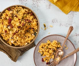 Riz indien aux fruits secs