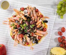 Catalana di pesce e verdure