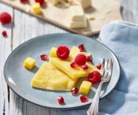 Weißes Schoko-Omelette