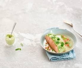 Saumon, cresson et fraîcheur de tomate (Eric Robert)