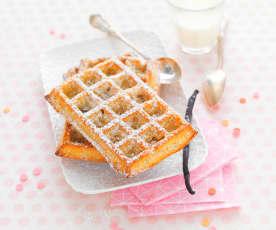 Gaufres à la vanille (cuisson au four)