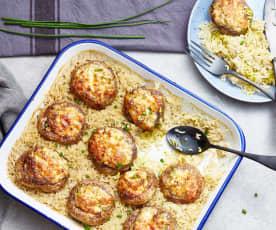 Champignons farcis au gorgonzola