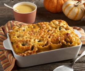 Turkey Lasagna Rolls with Pumpkin Sauce