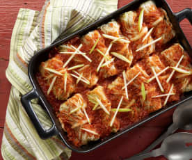 Beef and Apple Cabbage Rolls