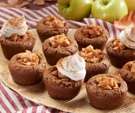 Gingerbread Cookie Cups with Cinnamon Apples