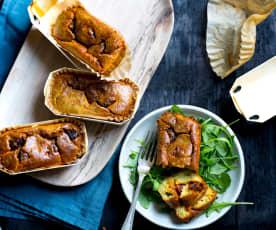 Petits cakes courgette-chorizo