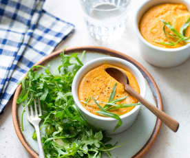 Petits flans de carotte à l'estragon